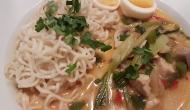 Thai Suppe mit Kokos und Huhn 6