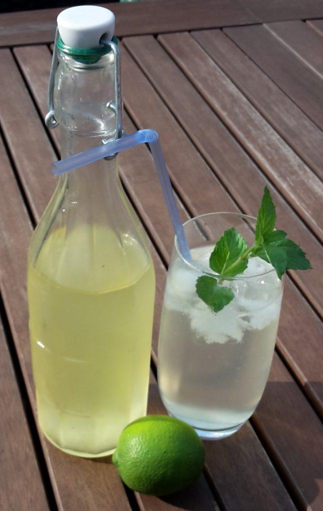 Limetten-Minze-Sirup