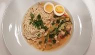 Thai Suppe mit Kokos und Huhn 1