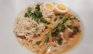 Thai Suppe mit Kokos und Huhn 2