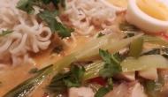 Thai Suppe mit Kokos und Huhn 4